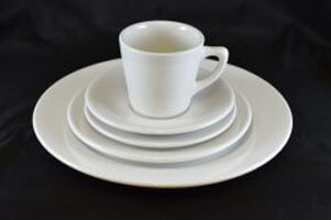 Basic White Cup & Saucer – 6""