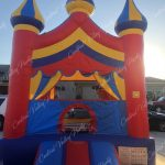 Primary colored basic castle jump. 16' L x 16' W x 14' H